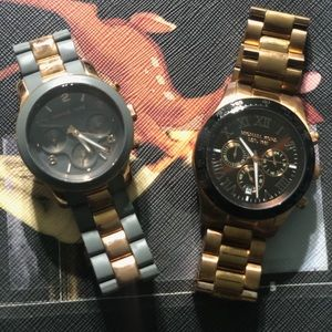 Gently Used Michael Kors His & Her Rose Gld Watch